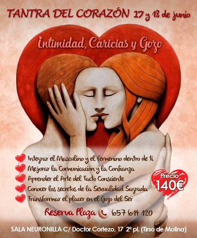 taller de tantra Intimidad Caricias y Gozo