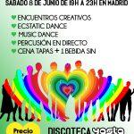 FIESTA CONSCIENTE EN MADRID (Sábado 8 de Junio de 19:00h A 23:30h en Discoteca YASTA, Gran Vía)