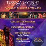 FIESTA CONSCIENTE EN MADRID (Sábado 21 de marzo de 17:00h A 22:00h en Terraza SKYNIGHT del Hotel Puerta de América)