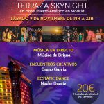 FIESTA CONSCIENTE EN MADRID (Sábado 9 de noviembre de 18:00h A 23:00h en Terraza SKYNIGHT del Hotel Puerta de América)